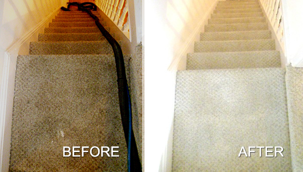 Stair carpet cleaning by The Wirral Carpet Cleaner